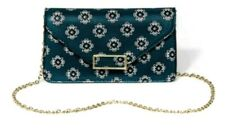 NWT - A New Day Turquoise Print Clutch with Detachable Crossbody Chain Strap