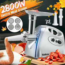 2800W Electric Meat Grinder Home Kitchen Sausage Maker Stainless Steel 4 Cutter