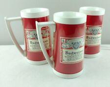 Vintage Budweiser Thermo-Serv Mug Set of 3