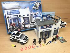 Playmobil 9372 City Action Police Station Set 99% Complete Boxed Booklet Vgc