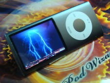 "Black iPodâ""¢ Nano 4th Gen 8Gb & Accessories Customized - New Battery"