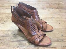 Trask $278 New Open Toe Ale Leather Sandals Heels Women's Size 7 M