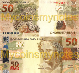 BRAZIL, 50 REAIS, 2020, New signatures, Prefix K, PNew (Not Yet in Catalog), UNC