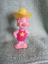 Pvc Winnie The Pooh Piglet Cake Topper Figure 100 Acre Woods Star Cowboy Hat