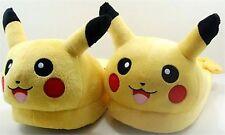 Pokemon Pikachu Women Kids Boys Girls Winter Bedroom Shoes Slippers One Size