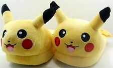 Pokemon Pikachu Kids Boy Girls Winter Warm Plush Slippers Bedroom Shoes Size 4-8