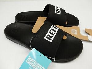 Reef Mens One Slide Reef Black White 11