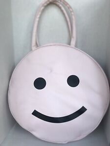Ban.do Large Pale Pink Smiley Face Cooler/Carrying Bag HTF