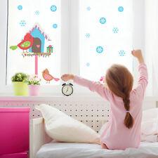 Christmas birdies window stickers   Christmas window sticker   Window décor