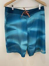 Nike Men's Size 32 Board Shorts Swim Shorts Blue Orange Medium