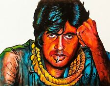 AMITABH BACHCHANOriginal sketch ofIndian Celebrity art painting drawing