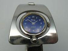Patoly Schöne massive 70er Jahre Designer Spangen Armbanduhr aus 800 Silber