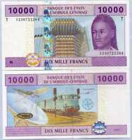 Central African States Congo 10000 Francs 2002 / 2012 P 110Ta UNC