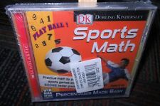 NEW 3-PACK SPORTS MATH PC CD-ROM SET BY DK, FRACTIONS,DECIMALS,PERCENTAGES, WIN/