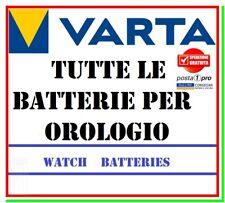 Pile per Orologi Batterie VARTA da 301 a 399 Watch Ossido Argento Silver Oxide