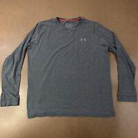 Nike Men's Size Large Gray Long Sleeve Mock Neck Cotton T-Shirt *Flaws*
