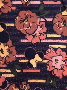 NWT LuLaRoe Disney Leggings OS Minnie Mouse Bow Floral Flower 201213