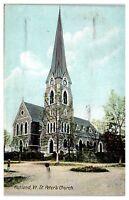 Early 1900s St. Peter's Church, Rutland, VT Postcard