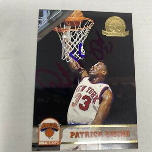 PATRICK EWING NEW YORK KNICKS AUTOGRAPHED CARD
