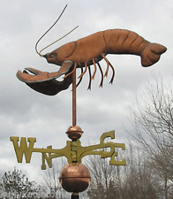 """LARGE COPPER """"LOBSTER """" WEATHERVANE MADE IN USA #179"""