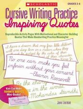 Cursive Writing Practice: Inspiring Quotes: Reproducible Activity Pages with Mot