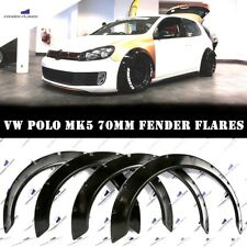 VW POLO Fender Flares WHEEL Arches Extensions Wide Body Kit Black 70mm SET OF 4