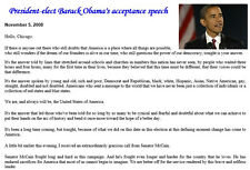 Obamas acceptance speech 2008, First African American President, Obama's