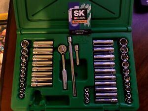SK PROFESSIONAL TOOLS 91844 Skt Wrch St, Chrm, 6Pt, 3/16 - 9/16 in