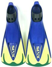 Seac TEAM 46/47 Yellow and Blue Swim Fins Mens UK Size 11.5-12.5 USA Size 11-12