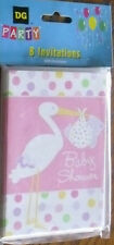 Baby Shower Invitations 8 Pack Set With 8 Envelopes Pink Shower C My Other Items