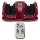 Shiatsu Kneading and Rolling Foot Leg Massager Calf Ankle w/ Remote Red Burgundy