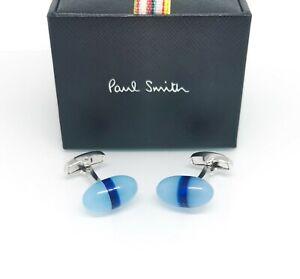PAUL SMITH CUFFLINKS - LUXURY 'AQUA SKY' CORAL STONE CUFF LINKS - RARE £149