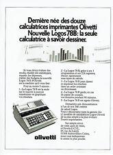 Publicité Advertising 097  1979  calculatrices imprimantes Olivetti Logos 78B