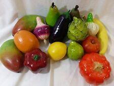 Mixed Vintage Lot 15 Wax/Cermaic/Paper Mache/Vinyl Vegetables Fake Fruit Staging