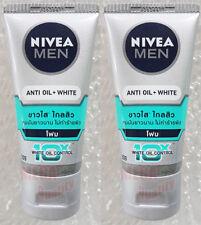 50g NIVEA Men Extra White Cleansing Bright Anti-acne Oil Control Face Wash Foam Anti-oil Mudfoam