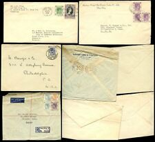 HONG KONG KG6 + QE2 1938-56 4 COVERS incl REGISTERED PRINTED MATTER COMBINATIONS