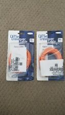 2 Nos  Belkin Cat 5e Crossover Patch Cables Rj45 Male/Male Connector 14ft Orange