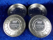2 Stück 35 mm Weißblechdosen für 300 Meter Film. Mit Gebrauchsspuren.