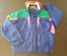 VTG Nevica Size 40 Ski/Snowboard Jacket Fun Color Block Hood 80s/90s FS 20 MC