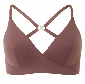 Ex M*S Truffle Body Smoothing Non-Wired Plunge Bra with Racer Back Option A-E