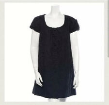 Robert Rodriguez Black Label Womens Linen Eyelet Knit Dress Black Size 2
