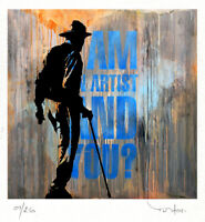 TABLEAU ART CONTEMPORAIN I am an..  ed. TEHOS serie limitee 250 ex street art