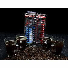Tassimo 52 T-Disc Coffee Pod Capsule Holder + 4 Free Latte Glasses and Spoons