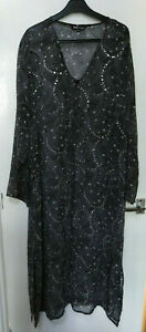 Body Grace FULL LENGTH/LONG SHEER COVER UP/JACKET/CARDIGAN sequins beads 18