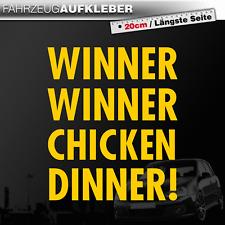 Winner Winner Chicken Dinner | Nerd | Gamer | Geek | Gelb | PKW Auto Aufkleber