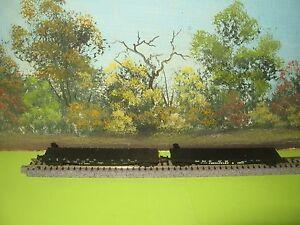 2 MICRO-TRAINS N SCALE #45100/45120  50' FLATCARS C&O #80420 & SP #563077 (5)