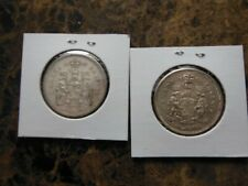 1959, 1962 CANADIAN SILVER 50 CENT COINS
