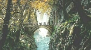 LORD OF THE RINGS HOBBIT MIDDLE EARTH 20X30 INCH FRAMED CANVAS WALL ART COVERING