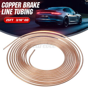 """Copper Brake Pipe Hose Roll of 25ft 3/16"""" OD Line Tubing Tube Piping Joint  >"""