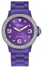 S.Oliver Uhr mit Silikonband lila medium SO-2445-PQ